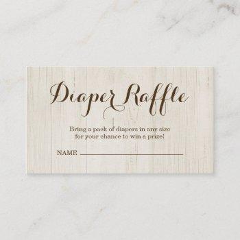 Diaper Raffle Insert For Baby Shower Invitation