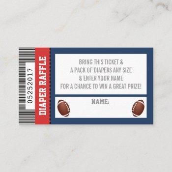 Diaper Raffle Ticket, Sports, Football Baby Shower Enclosure Card