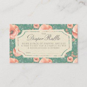 Diaper Raffle Ticket | Storybook Baby Shower Enclosure Card