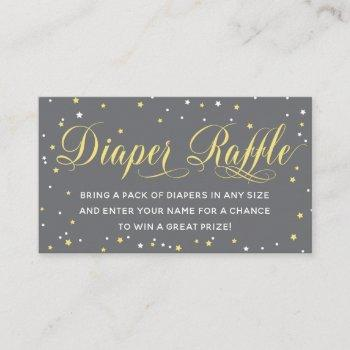 Diaper Raffle Ticket, Twinkle Little Star Enclosure Card