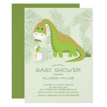 Dino Love Boys Baby Shower Invitation