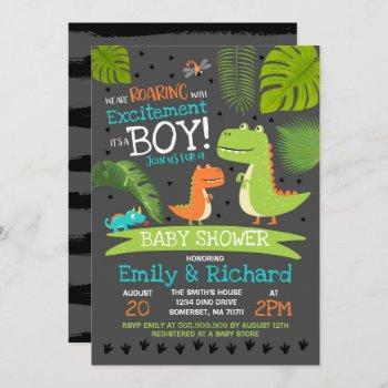 Dinosaur Baby Shower Invitation T-rex Baby Shower