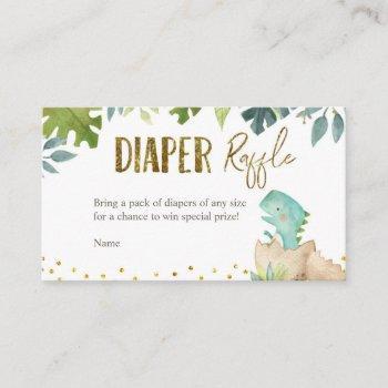 Dinosaur Diaper Raffle Card
