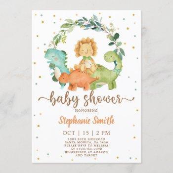 Dinosaurs Baby Shower Invitation