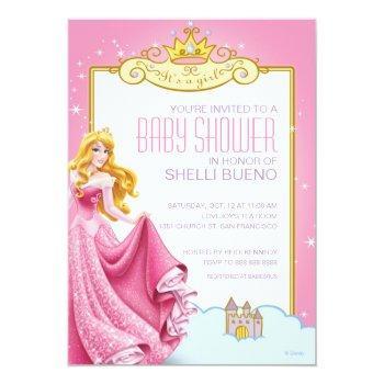 Disney Princess Aurora It's A Girl Baby Shower Invitation