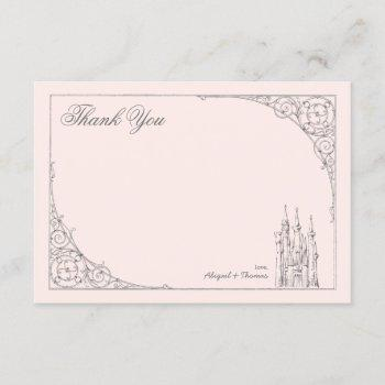 Disney Princess Castle | Baby Shower Thank You Invitation