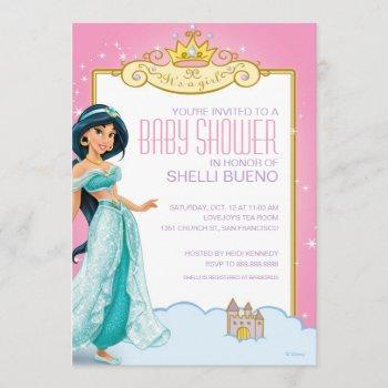 Disney Princess Jasmine It's A Girl Baby Shower Invitation