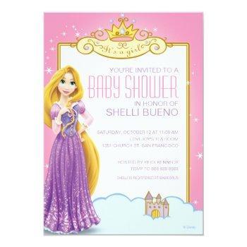 Disney Princess Rapunzel It's A Girl Baby Shower Invitation