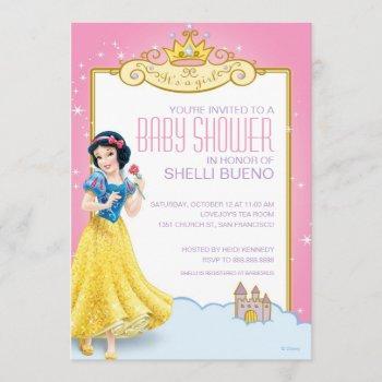 Disney Snow White It's A Girl Baby Shower Invitation