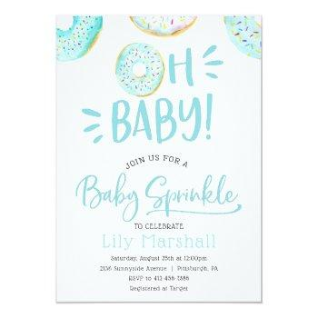 Donut Baby Sprinkle Invitation