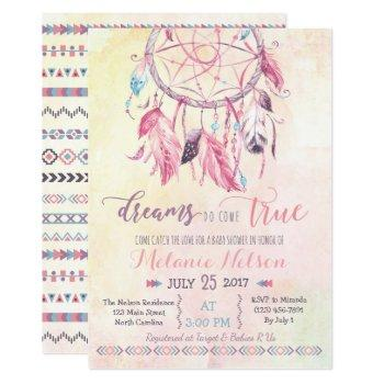 Dream Catcher Boho Baby Shower Invitation