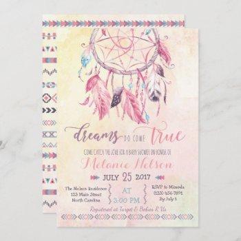Dream Catcher Boho Baby Shower Invitation