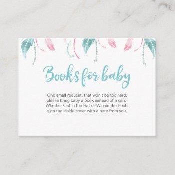 Dream Catcher Book Request Baby Shower Insert Card