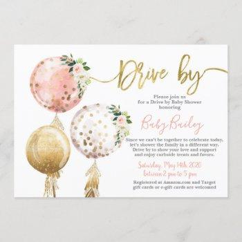 Drive By Baby Shower Girl Invitation