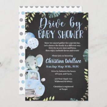 Drive By Baby Shower Invitations For Boys