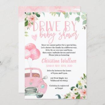 Drive By Baby Shower Invitations For Girls