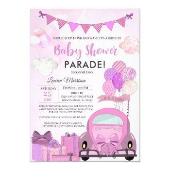 Drive By Baby Shower Parade Invitation