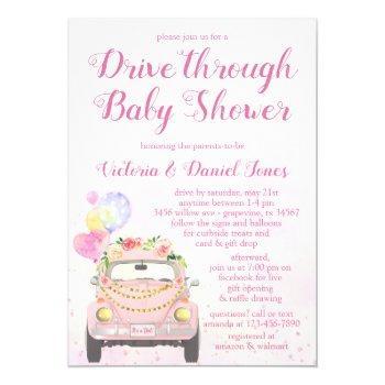 Drive Through Baby Shower Invitation