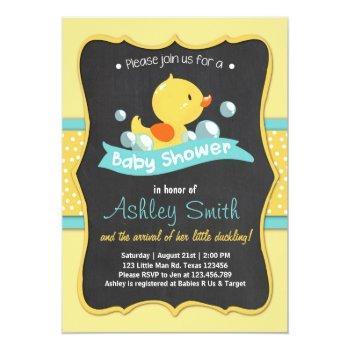 Duck Baby Shower Invite Rubber Duck Duckling