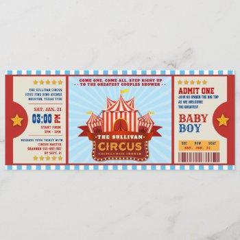 Editable Colour Circus Ticket Couple Shower
