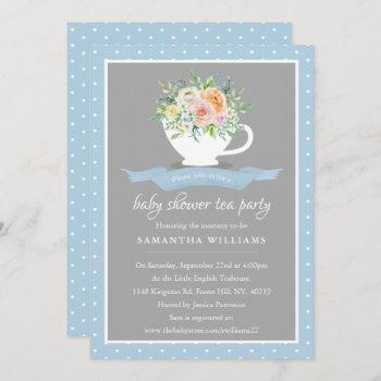 Elegant Floral Teacup Baby Shower Tea Party