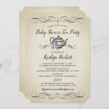 Elegant Vintage Tea Party   Baby Shower