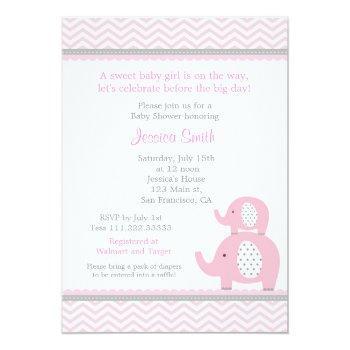 Elephant Baby Shower Invitation