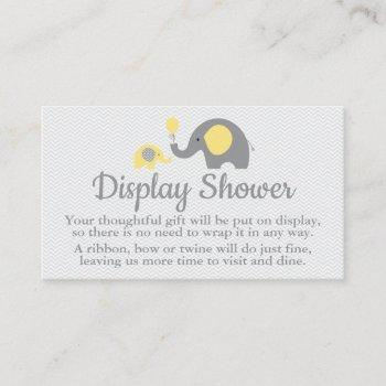 Elephant Display Shower Inserts In Yellow And Gray