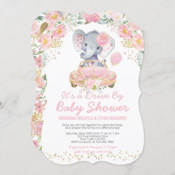 Elephant Drive By Baby Shower Parade Invitation