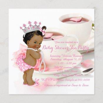 Ethnic Girl Baby Shower Tea Party Invitation