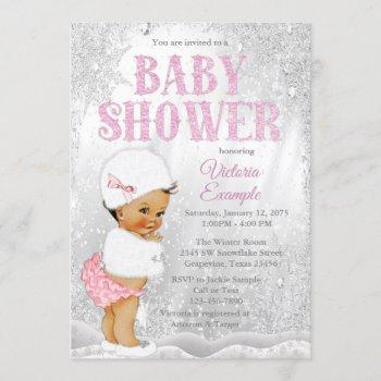 Ethnic Girl Winter Wonderland Baby Shower