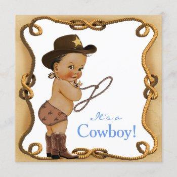Ethnic Little Cowboy Baby Shower