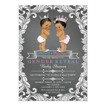 Ethnic Prince Princess Gender Reveal Baby Shower Invitation