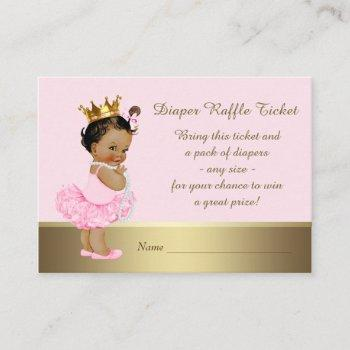 Ethnic Princess Diaper Raffle Ticket Enclosure Card