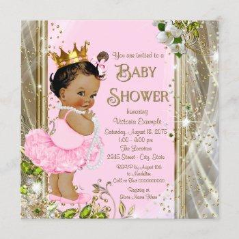 Ethnic Princess Tutu Pink Gold Baby Shower