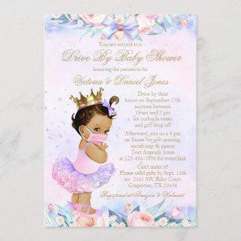 Ethnic Princess With Mask Drive By Baby Shower Invitation