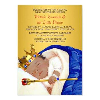 Ethnic Royal Prince Baby Shower Invitation