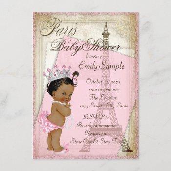 Ethnic Vintage Paris Baby Shower Invitation