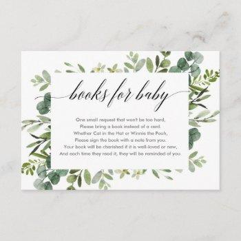 Eucalyptus Foliage Greenery Book Request Enclosure Card