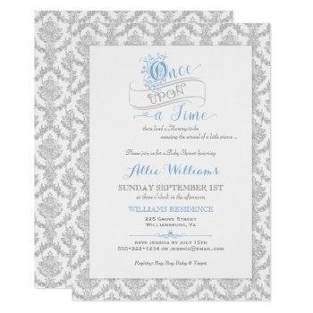 Fairytale Once Upon A Time Prince Baby Shower Invitation