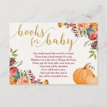 Fall Books For Baby, Pumpkin Book Request Inserts