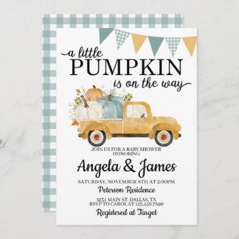 Fall Truck Baby Shower  Pumpkin Patch