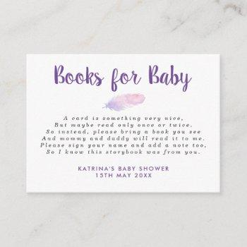 Falling Boho Feathers Books For Baby Insert