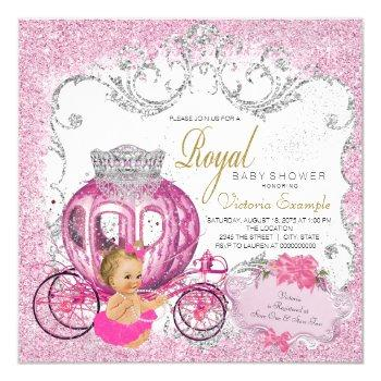 Fancy Little Princess Fairytale Baby Girl Shower Invitation