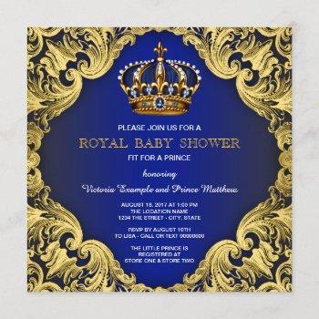 Fancy Prince Boy Baby Shower Invitations
