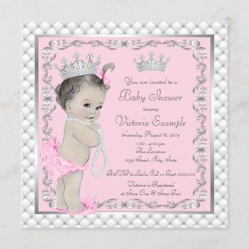 Fancy Princess Baby Shower Invitations