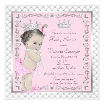 Fancy Princess Baby Shower Invitations