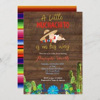 Fiesta  Baby Muchacho Baby Shower Invitation
