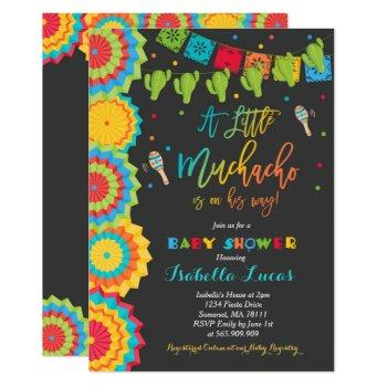 Fiesta Baby Shower Invitation Boy Fiesta Shower