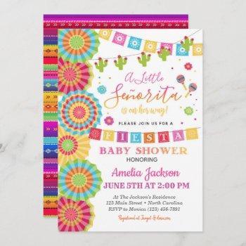 Fiesta Baby Shower Invitation Girl Fiesta Shower